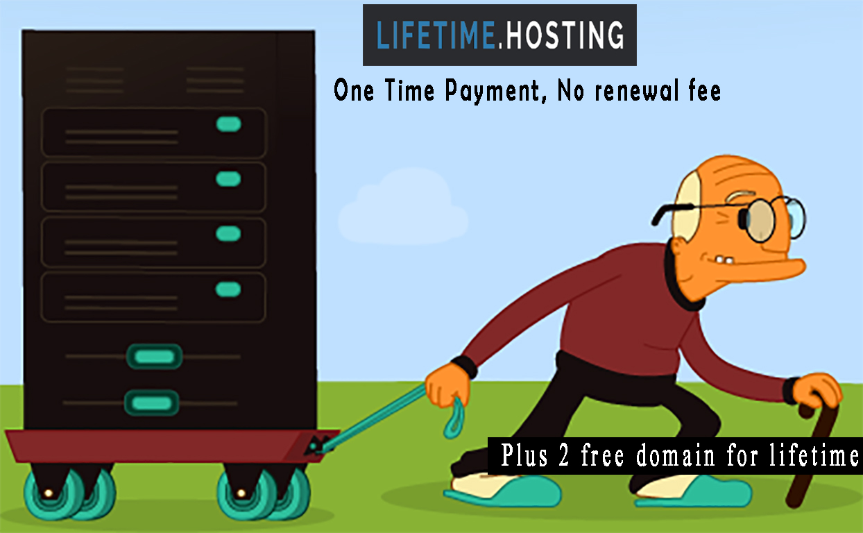 lifetime hosting review   pay once host forever no